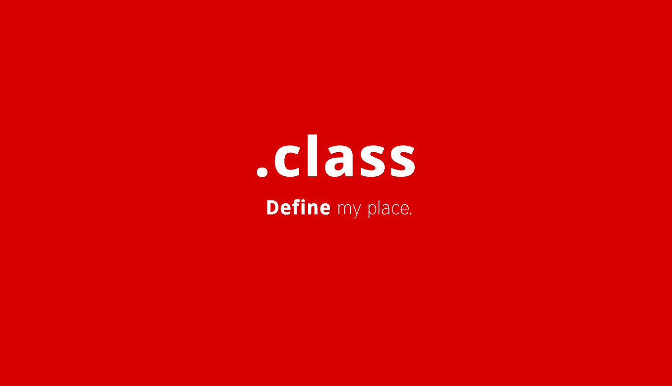 CLASS Tag in HTML