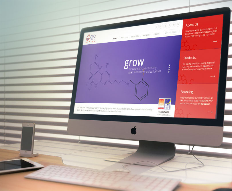 Chemical Website Design