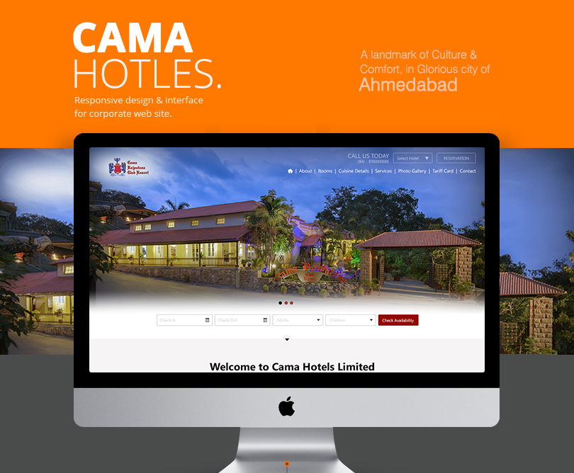 Hotel Website Design for Cama Hotels India