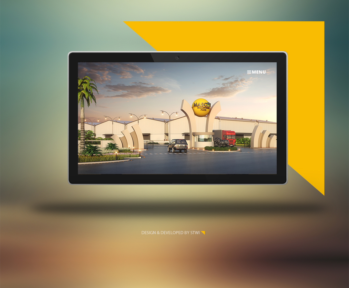 Website Design for Mascot Industrial Park Kadi